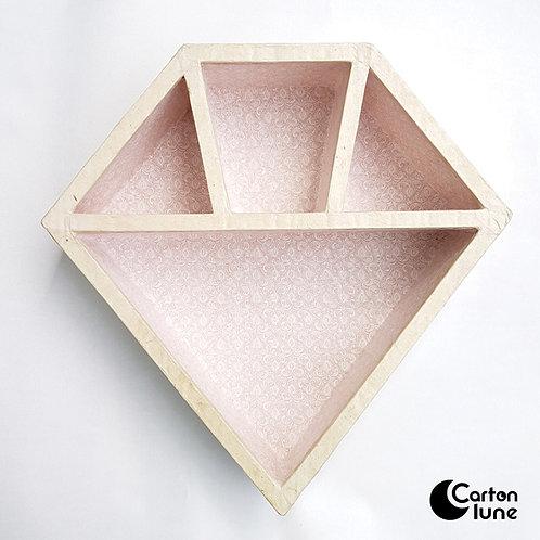 Etagère diamant rose