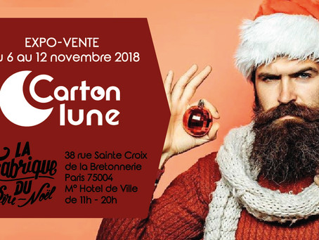 Carton Lune expose cette semaine à La Fabrique du père Noël !!!