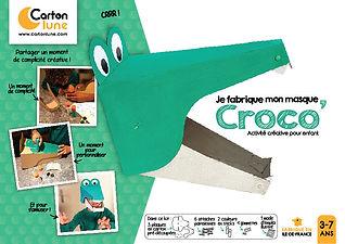 Masque crocodile a fabriquer