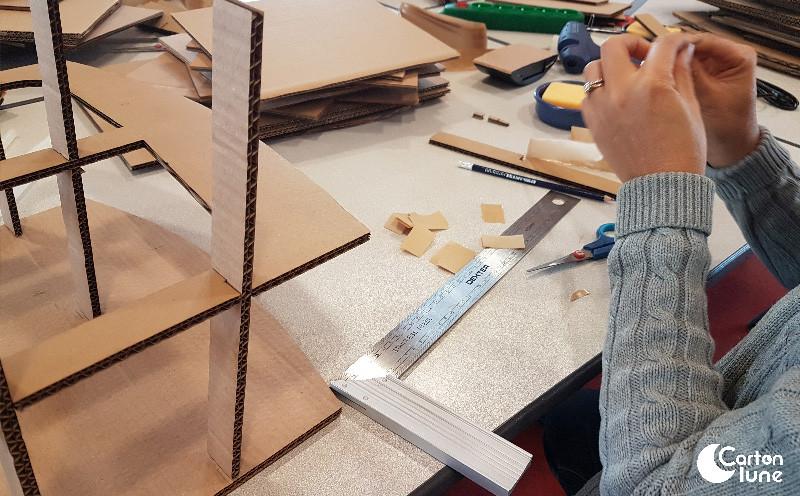 Craft gommé pour meuble en carton