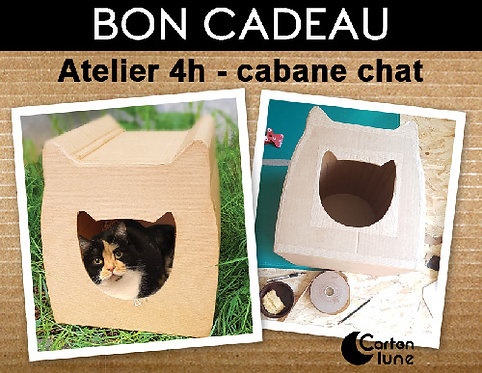 Atelier 4 h cabane chat