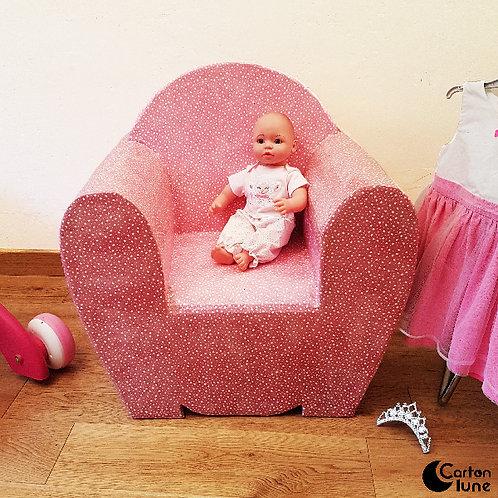 Fauteuil club rose pour enfant