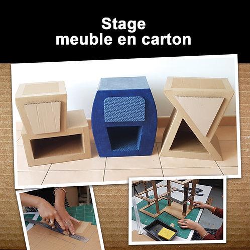 Stage initiation meuble en carton