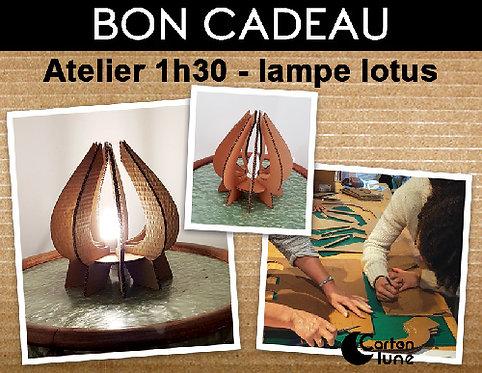 Atelier DIY Lampe lotus