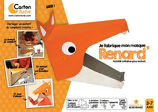 Masque en carton renard