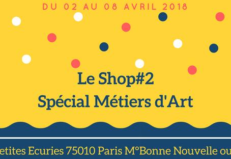 Carton Lune expose au Pop up Store  - Le Shop#2 - du 02 au 08 avril 2018