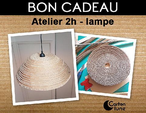 Atelier 2h lampe/ lustre en carton