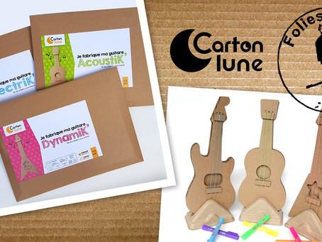 Les kits créatifs pour enfants Carton Lune sont en vente chez Folies d'Encre Montreuil