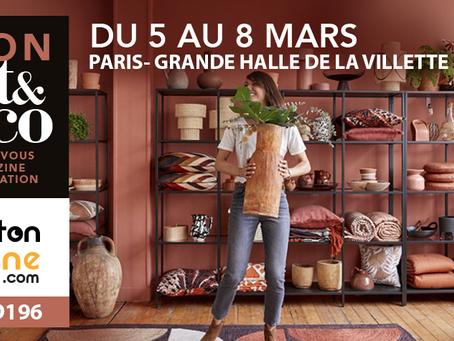 Carton lune expose au salon Art &  Décoration 2020 à Paris du 5 au 8 mars