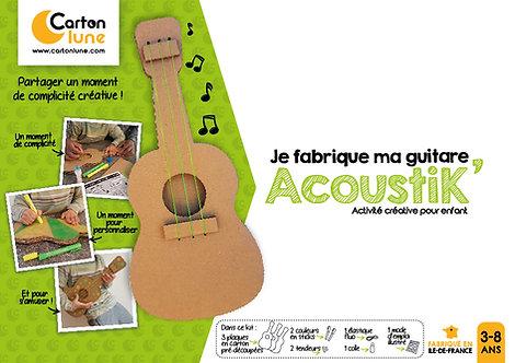 """Kit créatif pour enfant """"Je fabrique ma guitare AcoustiK"""""""