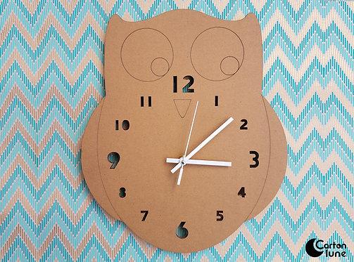 Horloge Hibou mécanisme silencieux