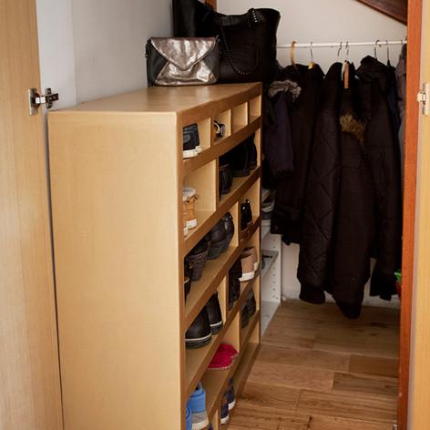 meuble sous escalier pour chaussure sur mesure