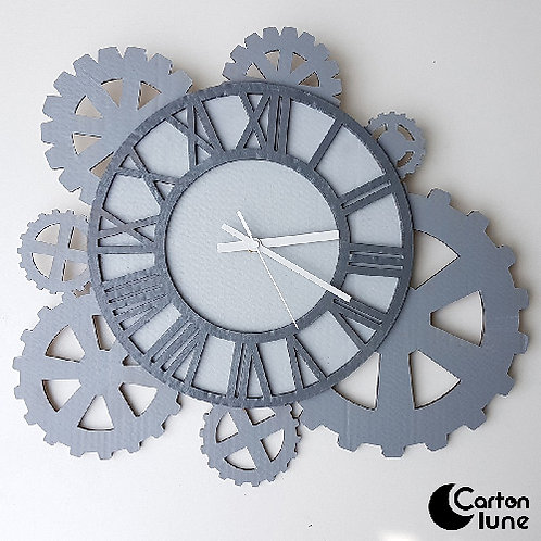 Horloge industrielle à engrenages