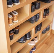 rangment chaussure en carton