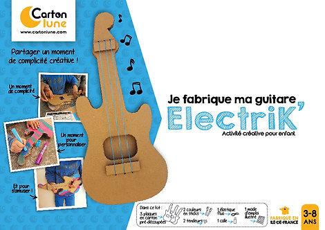 """Kit créatif pour enfant """"Je fabrique ma guitare ElectriK"""""""