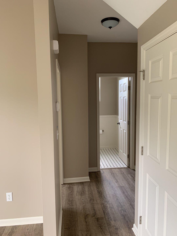 Hallway with New LVP Flooring