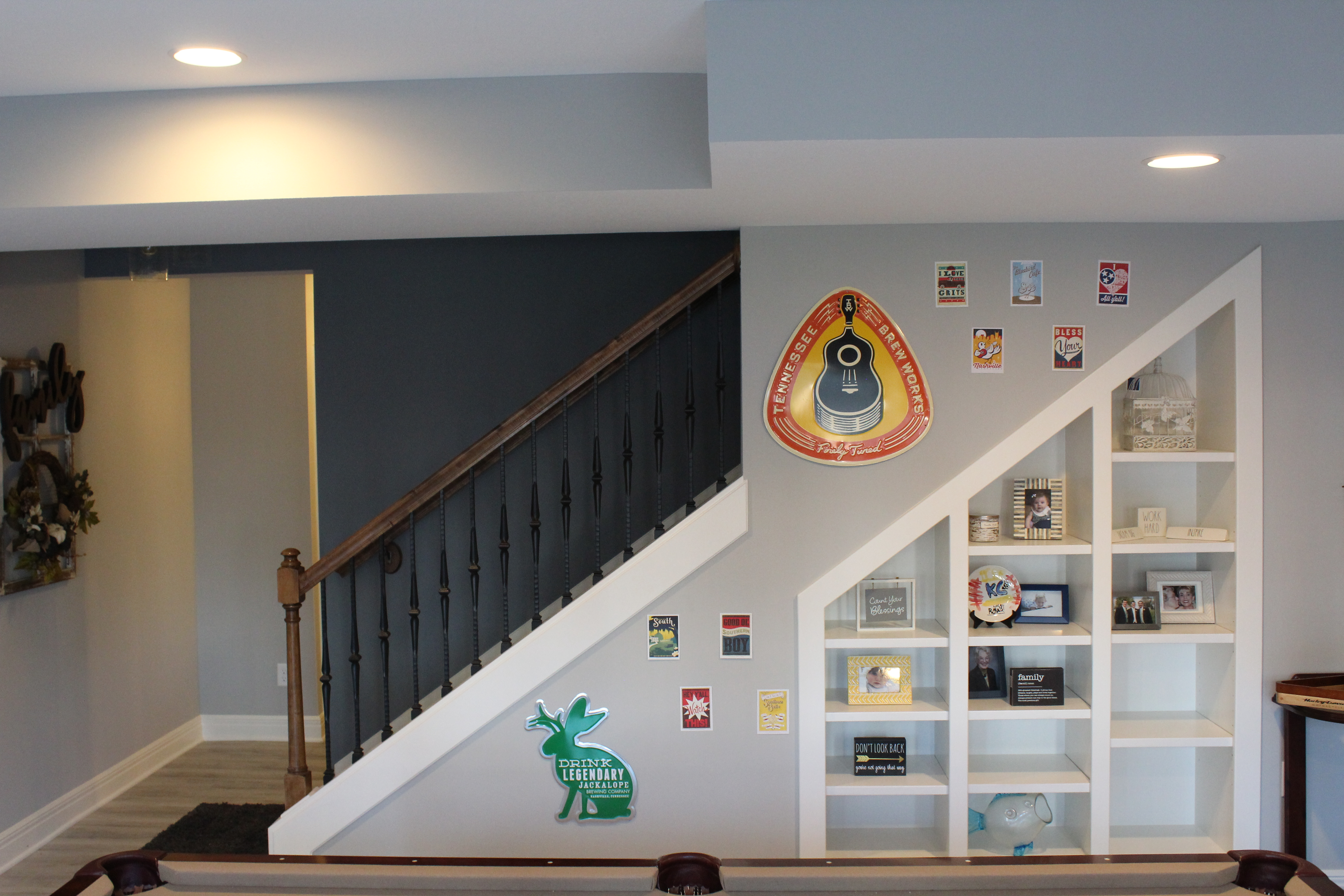 Stair View Basement Remodel
