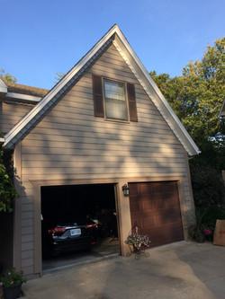 Garage Door View Exterior Renovation