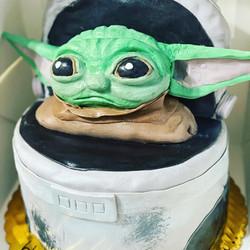 Baby Yoda Birthday Cake