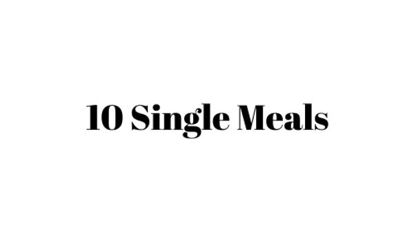 10 Single Meals