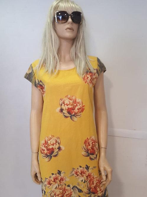 שמלה שרוול כנף בצבעים
