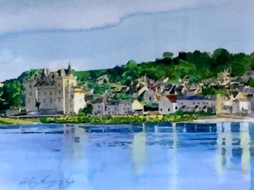 美しい風景 フランス 湖の絵
