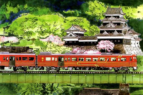 大洲城とローカル鉄道【OD】