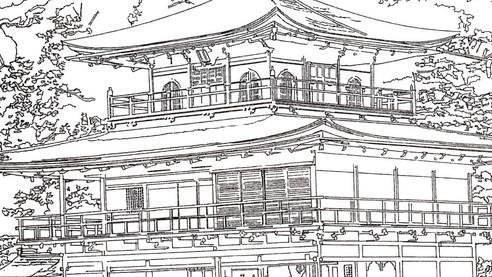 金閣寺(ペン)拡大.jpg