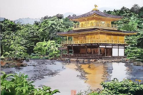 京都 金閣寺 華やかな絵