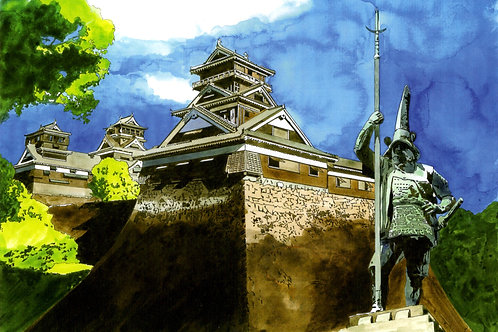 熊本城と加藤清正像【OD】