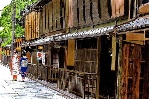 京都 祇園を歩く舞妓さん