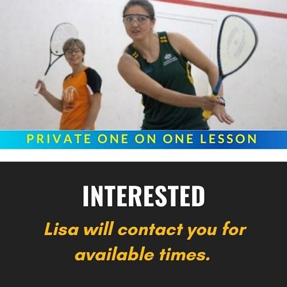 Private Squash Lesson