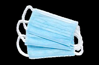 Cubrebocas azul desechable
