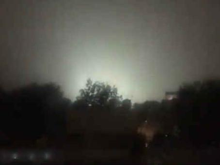 Reportan extrañas luces en el cielo de la CDMX
