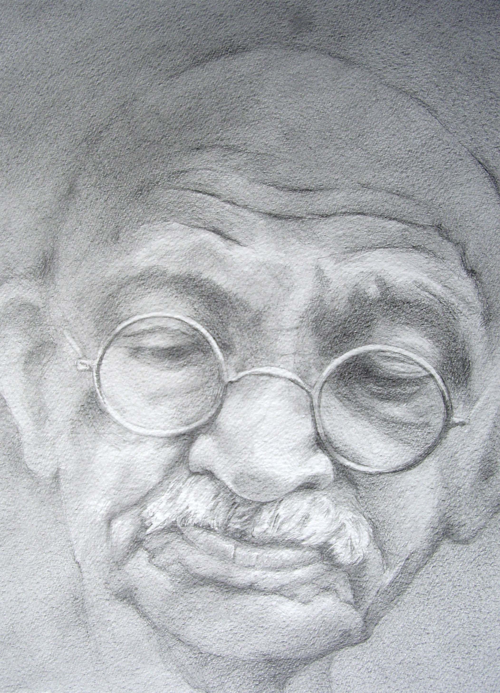 Gandhi Deep in Meditation