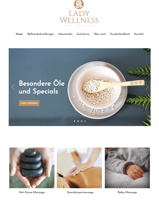 Lady Wellness Webdesign