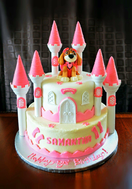 Paw Patrol Castle Cake