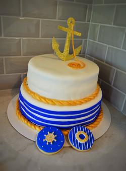 Navy Theme Cake