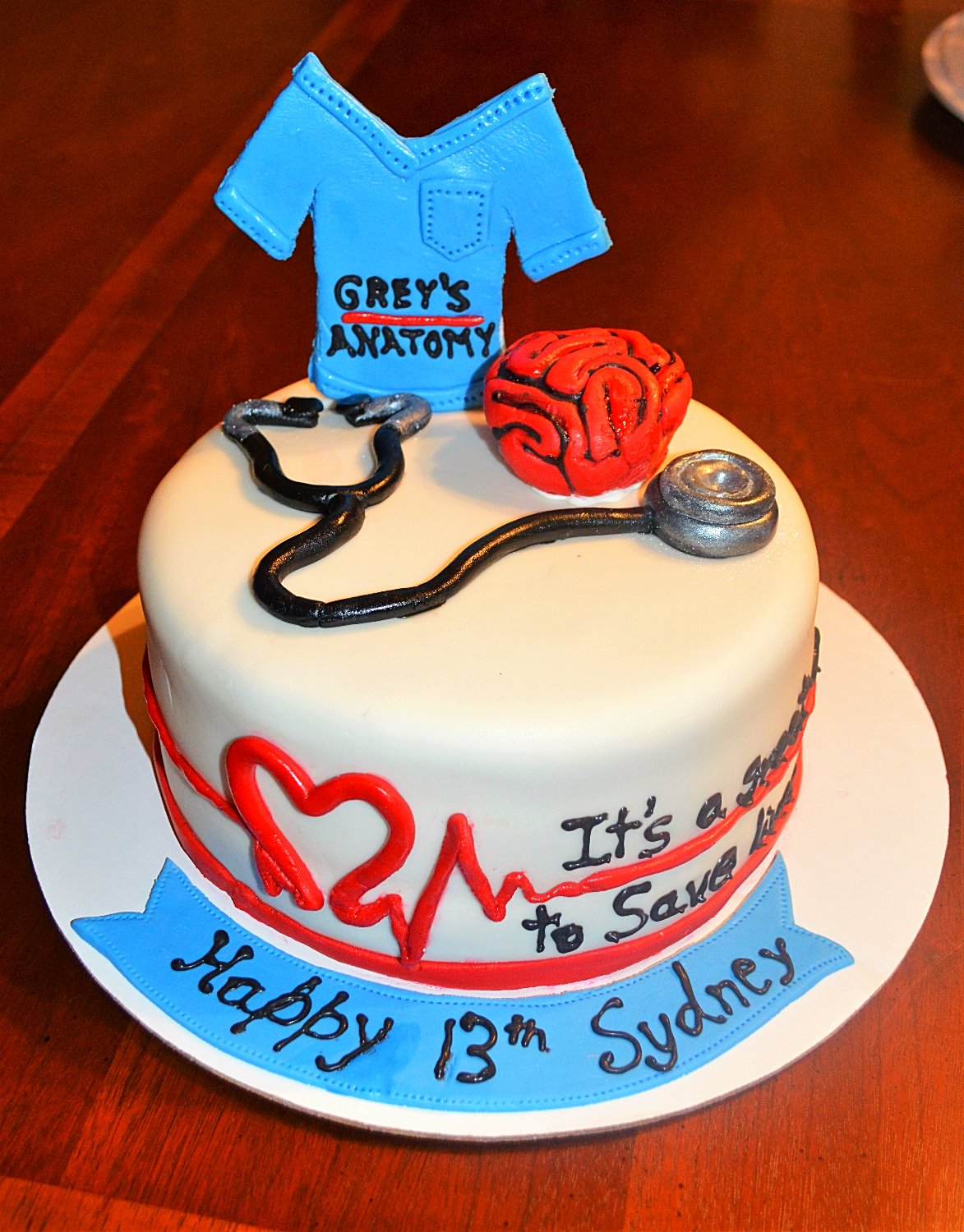 Greys Anatomy Cake