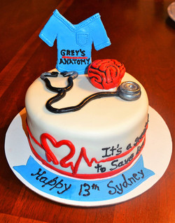 Greys Anatomy Cake
