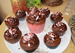 Peppermint chocolate cupccakes