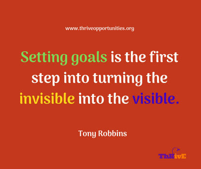 Setting goals is the first step into turning the invisible into the visible.