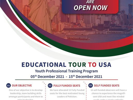 Youth Professional Training Program 2021-Tour to USA (Fully-funded and self-funded)