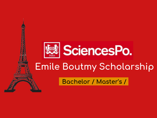 THE ÉMILE BOUTMY SCHOLARSHIP at Sciences Po