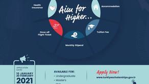 Türkiye Scholarships 2021 Applications