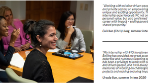 World Bank IFC Global Internship Program (GIP)