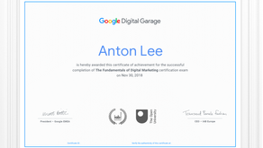 Get certified in the Fundamentals of Digital Marketing with GOOGLE