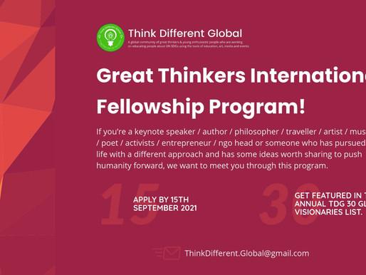 Great Thinkers International Fellowship Program