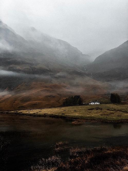 White cottage Glencoe