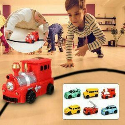 Follow line induction toy